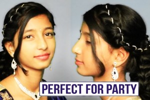 Easy-Hairstyle-For-Party-Beautiful-Hairstyle-For-PartyWeddingFunction-Ladies-One