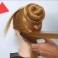 Easy-traditional-Hairstyles-for-Long-Hair-Elegant-red-carpet-bun-hairstyle-Idea-Hairstyle-girl