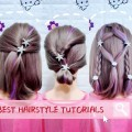 Hairstyle-Tutorials-For-Short-Hair-2018-Girls-Back-To-School-Offices-Hair-transformation