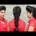 High-PUFF-Hairstyle-Easy-Party-Juda-Hairstyle-With-Puff-For-Long-Hair.