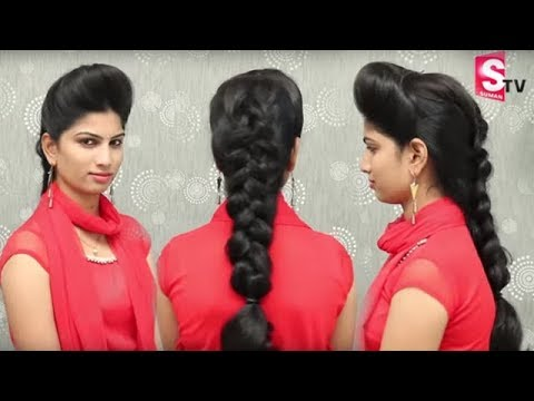 High Puff Hairstyle Easy Party Juda Hairstyle With Puff