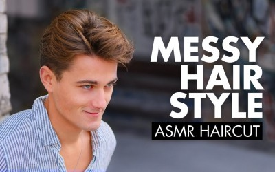 Men-Medium-Haircut-ASMR-Hair-Experience-SlikhaarTV