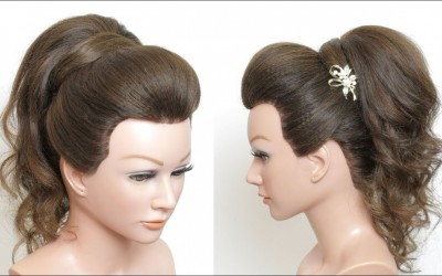 New-High-Prom-Ponytail-Hairstyle-With-Puff-For-Long-Medium-Hair
