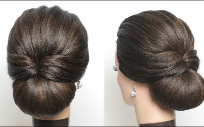 New-Simple-Hairstyle-For-Girls.-Cute-And-Easy-Party-Hair-Bun.
