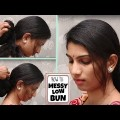 Simple-Messy-Bun-Updos-Hairstyles-For-Long-Hair-How-To-Easiest-Messy-Low-Bun-YouTube.