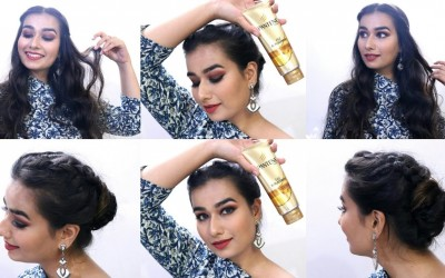 Two-Festive-Hairstyles-for-Medium-to-Long-Hair-Pantene-Oil-Replacement-Review-Divya-Katna