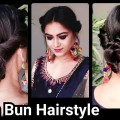 2-min-Indian-Bun-Hairstyle-for-DIWALIEasy-Hairstyles-For-medium-to-long-hairParty-Hairstyle