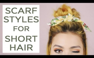 3-SCARF-hairstyles-for-SHORT-HAIR-Tutorial