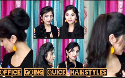 6-Office-Going-Quick-Hairstyles-Everyday-Hairstyles-For-Medium-To-Long-Hair