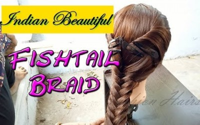 Beautiful-Fishtail-Braid-Hairstyles-for-Long-and-Short-Hairs-Simple-Indian-Hairstyle