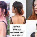 Diwali-special-Makeup-Hairstyle-For-Medium-to-Long-Hair-Indian-Festive-hairstyle