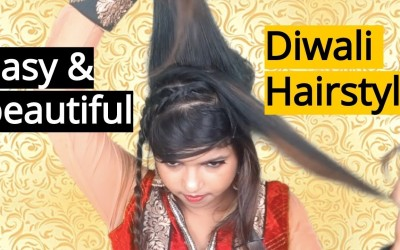 Easy-Beautiful-Diwali-HairstyleCommentary-Must-WatchHairstyles-for-longMediumShort-Hairstyles