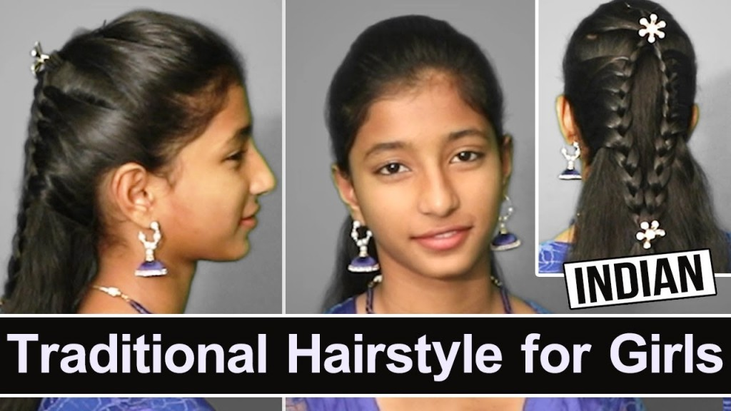Latest Indian Traditional Hairstyle For Girls Indian Traditional