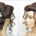 New-Hairstyle-Tutorial-For-Long-Hair.-Latest-Bridal-Updo