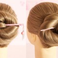 New-Quick-Juda-Hairstyle-with-bun-stick-Quick-Juda-Hairstyle-for-Long-Hairs-Quick-Bun-stick-Juda