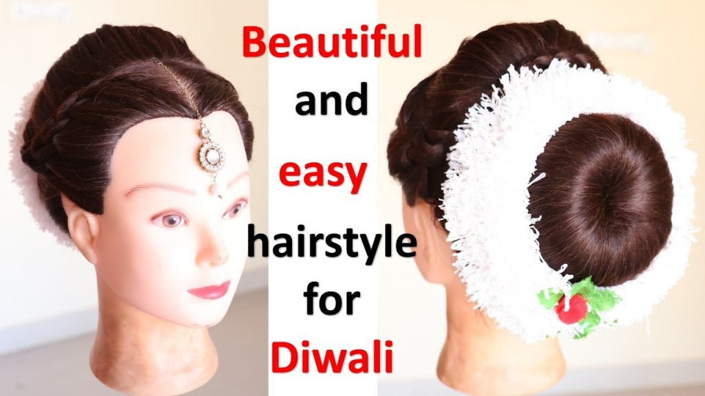 Easy Juda Hairstyle With Puff For Diwali Braided Hairstyles