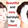 easy-juda-hairstyle-with-puff-for-diwali-braided-hairstyles-hair-style-girl-simple-hairstyle