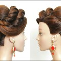 New-Bridal-Bun-Hairstyle.-Updo-Tutorial-For-Long-Hair