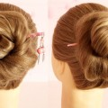 New-Messy-JudaBun-Hairstyle-With-Bun-Stick-Messy-JudaBun-Hairstyle-for-Long-Hair-Hairstyle