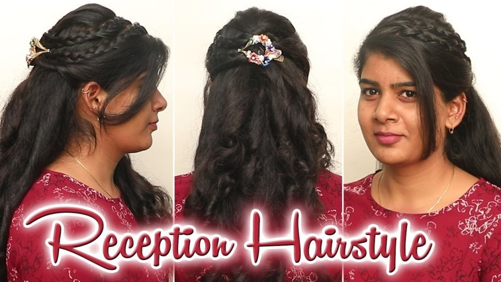 Reception Style Hairstyle 2018 South Indian Curly Reception