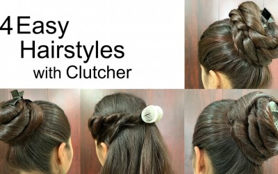 4-Attractive-Hairstyles-by-using-Clutcher-Hairstyles-for-medium-or-long-hair