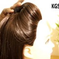 Easy-Beginner-Front-Buff-with-Rubber-Band-Easy-Buff-Hairstyles-KGS-Hairstyles