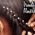 Easy-Traditional-Hairstyle-for-Medium-Long-Hair-Latest-Indian-PartyFunctionWedding-Hairstyles