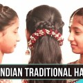Latest-Indian-Traditional-Hairstyle-2019-Simple-Hairstyles-for-Special-Occasions-Ladies-One