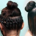Lovely-Bun-Hairstyles-For-Long-Hair-Twisted-Top-Knot-long-hair-updo-bun-Bun-Hairstyles