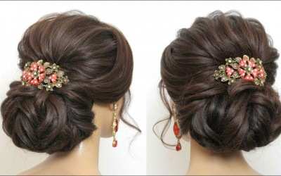New-Latest-Bridal-Hairstyle-For-Long-Hair.-Wedding-Low-Bun