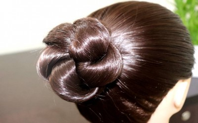 Simple-Easy-Bun-Hairstyle-for-Beginners-Party-Hairstyle-for-MediumLong-Hair-KGS-Hairstyles