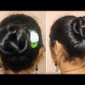 2-minute-quick-easy-wedding-party-bun-hair-style-girl-1