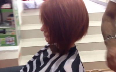 Beautiful-Long-Red-Head-to-Short-Bob-Haircut
