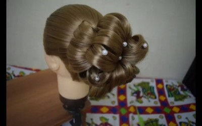 Flower-Bun-Hairstyle-for-any-party-functions-2019-Easy-Hairstyle-for-Long-Hair-Hairstyles-Tutorial