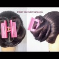 Flower-juda-hairstyle-with-using-clutcher-hair-style-girl-easy-hairstyles-cute-hairstyles