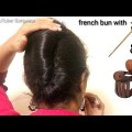 French-bun-with-Bunstick-and-Clutcher-Hair-Style-Girl-hairstyles-for-girls-hairstyles