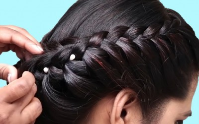 How-to-do-French-Braid-Hairstyles-tutorial-2018-Easy-Hairstyle-for-Long-Hair-2019-hairstyles