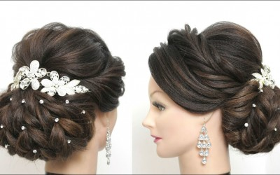 New-Bridal-Hairstyle-For-Long-Hair.-Wedding-Updo-Tutorial.-1