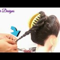 New-Bun-Hairstyle-For-partyWedding-Easy-hairstyle-For-Long-Hair-2019-hair-style-girl-1