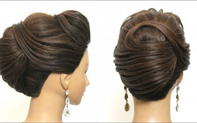 New-French-Roll.-Updo-Tutorial.-Trendy-Bridal-Hairstyle-For-Long-Hair