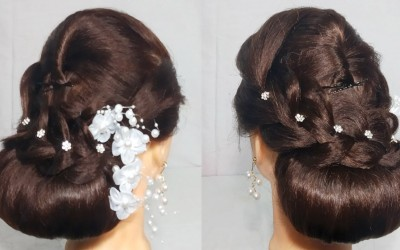 New-Low-Bun-Hairstyle-For-partyWedding-Easy-hairstyle-For-Long-Hair-2019-hair-style-girl-3