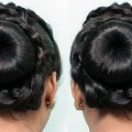 Stylish-Bun-Hairstyles-for-Weddingparty-and-Festivals-cute-hair-style-girl-hair-style-girl