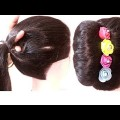 1-minute-french-bun-hairstyle-with-easy-trick-french-roll-hairstyle-french-twist-hairstyle