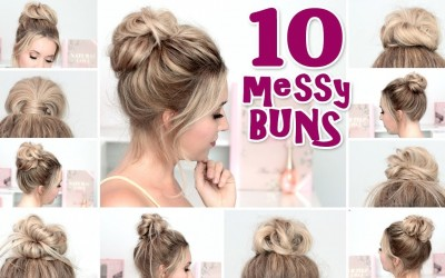 10-MESSY-BUN-hairstyles-for-back-to-school-party-everyday-Quick-and-easy-hair-tutorial