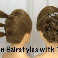 2-Easy-Bun-Hairstyles-with-Trick-for-Wedding-party-prom-Updo-Hairstyle