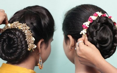 2-Easy-Bun-Hairstyles-with-Trick-for-Weddingparty-Hair-style-girl-Cute-hairstyles-2019
