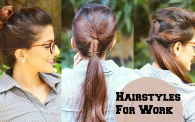 3-QUICK-Everyday-Hairstyles-For-Work-Office-College-No-Teasing-No-Hairspray-Indian-Hairstyles