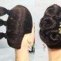 5-Mins-Hairstyle-for-wedding-Easy-Hairstyles-for-long-hair-updo-hairstyle-simple-hairstyle-1