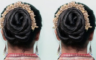 Cute-and-charming-hairstyles-with-Easy-Trick-Perfect-Bridal-Bun-step-by-step-Cute-hairstyles2019