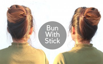 Easy-Hairstyle-With-Bun-Stick-High-Bun-Hairstyle-For-Medium-To-Long-Hair